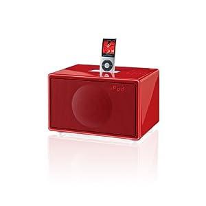 Geneva Sound System Model S HiFi System for iPod/iPhone with FM Radio & Alarm (Red)