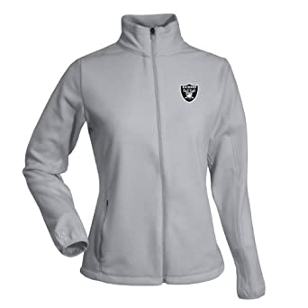 NFL Ladies Oakland Raiders Sleet Micro Fleece Sweatshirt by Antigua