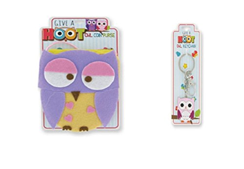 "Owl change Purse and Owl Key Chain Set by ""Give A Hoot"""