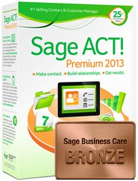 Sage ACT! Premium 2013 1 User DVD Box with Business Care Bronze