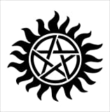 Supernatural Anti-Possession Seal Vinyl Die Cut Decal Sticker 5&quot; Black