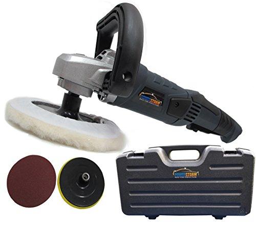 PowerStorm-Auto-Poliermaschine-Schleifmaschine-inklusive-Transportkoffer-mit-3-Polierhauben