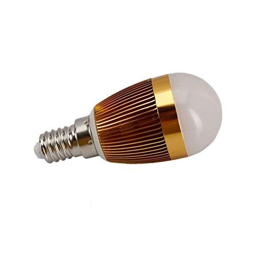 E14 3W 3Led 140Lumen Warm White Light Mini Spotlight Bulb Golden (85-265V)