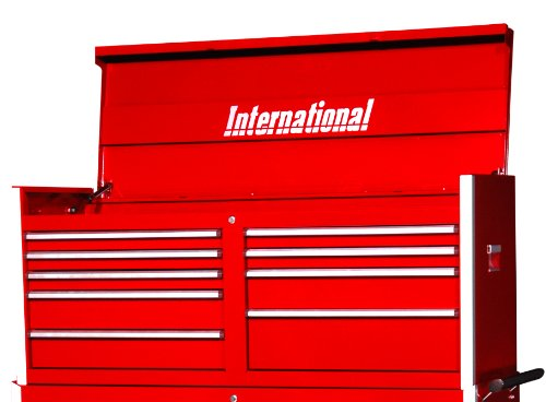 International Prt-5409Rd 54-Inch 9 Drawer Professional Series, Top Chest, Red front-45236