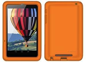Bobj Etui en Silicone Robuste pour la Tablette Nexus 7 WiFi et 3G 4G (pas pour Nexus 7 FHD) - BobjGear Housse de Protection - Orange