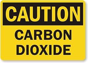 """Caution: Carbon Dioxide, Laminated Vinyl Labels, 5"""" x 3.5"""""""