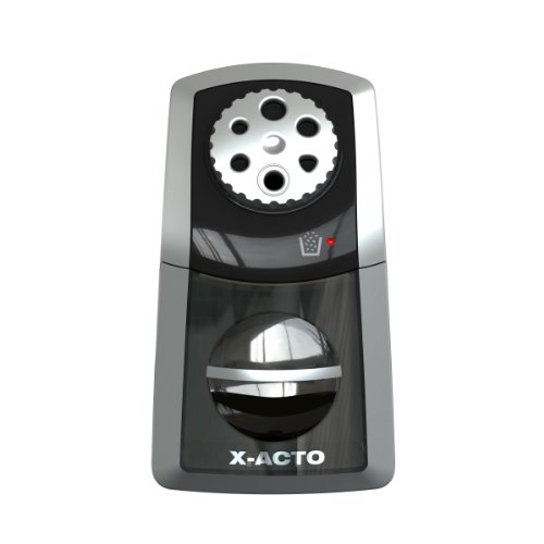 X-Acto Sharpx Performance Electric Pencil Sharpener, Black/Silver (1772)