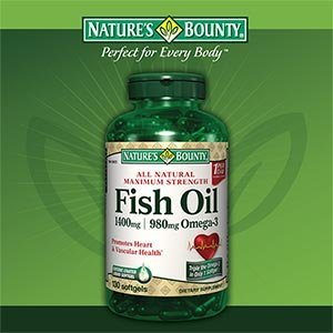 Nature's Bounty Fish Oil 1400 mg 130 Softgels