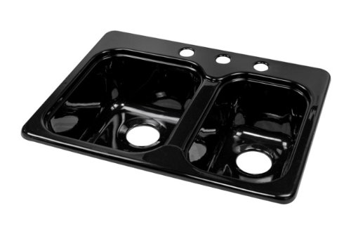 How About Deluxe 25 X 19 5 Designer Double Bowl Self Rimming Kitchen Sink Finish Black Lucadickinsontkzs