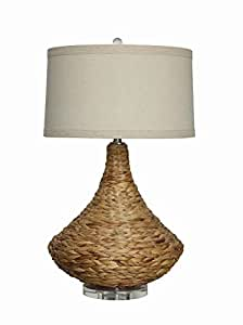 Creative co op sea grass table lamp with shade 32 height home kitchen - Creative lamp shades ...
