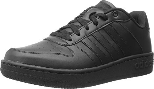 Adidas NEO Men's Team Court Fashion Sneaker, Black/Black/Black, 11 M US