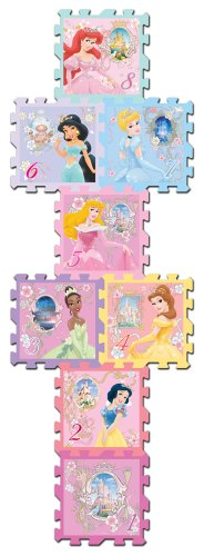Disney Princess Hopscotch 8 Piece Soft Form Play Mat
