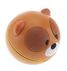 Kitsound Buddy Universal Portable Speaker with 3.5mm Jack Compatible with Smartphones, Tablets and MP3 Devices Including iPhone 4/4S/5/5S/5C/6/6 Plus, iPad 2/3/4/Air/Mini, iPod Nano 7th Generation, iPod Touch 5th Generation, Samsung Galaxy S2/S3/S4/S5, Galaxy Note 2/3, Galaxy Tab 2/3/4, Amazon Fire Phone, Xperia Z1/Z2, HTC One/One M8 and Google Nexus 5/7/10 - Bear