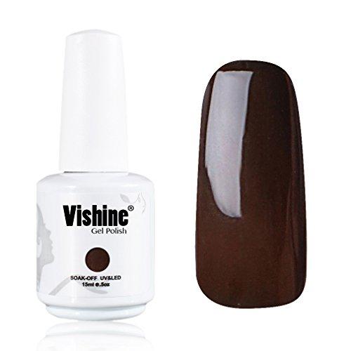 Vishine-Gelpolish-Lacquer-Shiny-Color-Soak-Off-UV-LED-Gel-Nail-Polish-Professional-Manicure-Dark-Brown1540