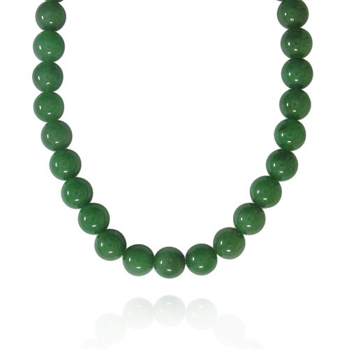 12mm Round Aventurine Bead Necklace, 60