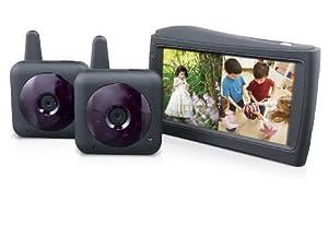 storage options 53396 kidcam 2 room digital video baby child monitor with 2 c. Black Bedroom Furniture Sets. Home Design Ideas