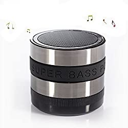 Bright Ideas Now Bluetooth Speaker, with rechargeable battery and auxilary input! (Grey)