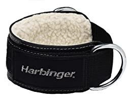 Harbinger Padded 3-Inch Ankle Cuffs with Double Ring Attachment by Harbinger