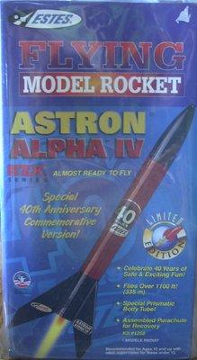 Estes Astron Alpha IV E2X Rocket Limited 40th Anniversary Edition