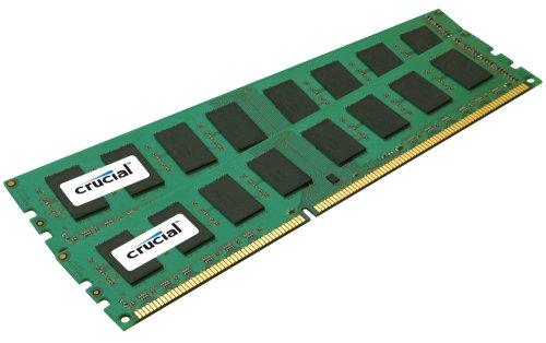 Crucial Technology 4 GB Kit (2 GB x 2) 240-pin DIMM DDR3 PC3-10600 Unbuffered ECC DDR3-1333 1.5V Memory (CT2CP25672BA1339)
