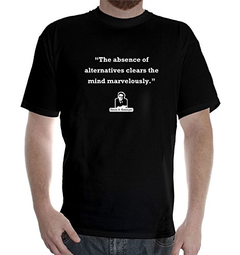 New Mens colors short sleeve cotton tshirt Henry Kissinger Quote: Absence henry cotton s