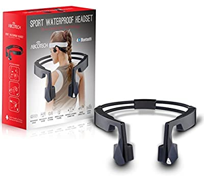 Bone Conduction Sports Bluetooth Headphone - IPX6 Grade Waterproof - Microphone Hands-free Stereo Headset
