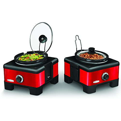 BELLA 13972 Connectable Entertaining Slow Cooker System, Red (Bella Crock compare prices)