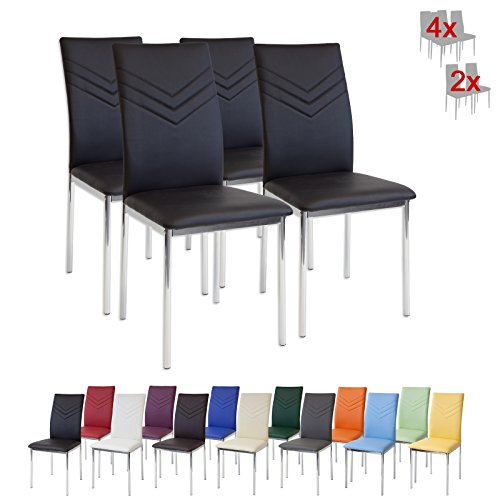 albatros-2934-verona-dining-chairs-set-of-4-black-with-chrome-feet-sgs-tested