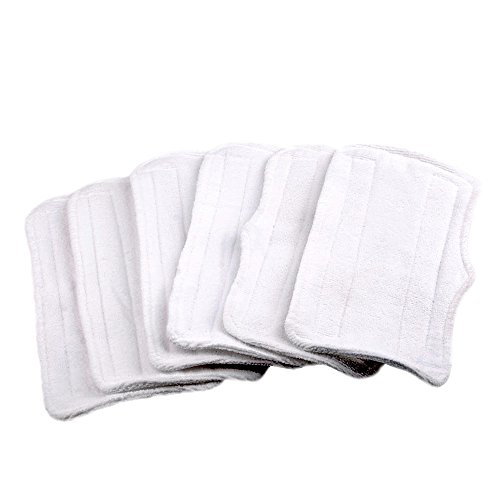 6 Replacement Microfiber Pads For Shark Steam Mop S3250 S3101 S3251 (Washable Shark Steam Mop Pad compare prices)