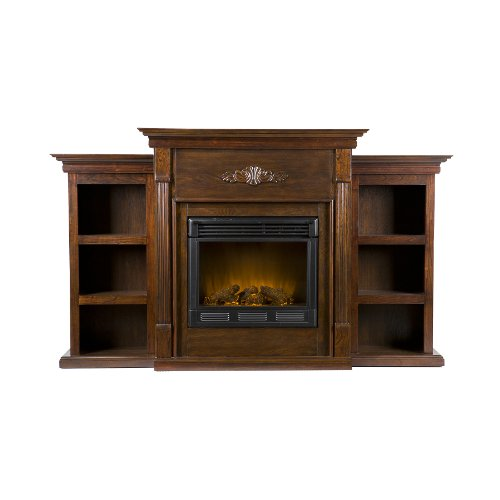 SEI Tennyson Electric Fireplace with Bookcases, Espresso picture B00440CR30.jpg