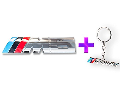 BMW///M5avant Gille emblème M Badge voiture en métal en M5nouvelle collection 2016+ BMW///M Alimentation Logo Porte-clés