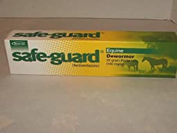 Safe-Guard Horse Wormer - Fenbendazole - 25 gram Paste, Model: , Home & Outdoor Store