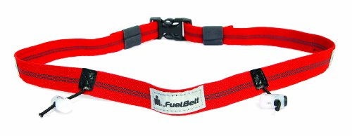 Fuelbelt Ironman Collection Reflective Race Number Belt, Red/Black, One Size front-1052494