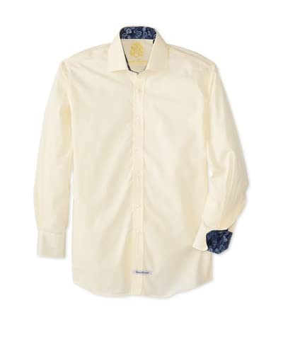 English Laundry Men's Diamond Weave Dress Shirt