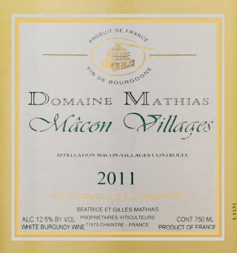 2011 Domaine Mathias Macon Villages 750 Ml