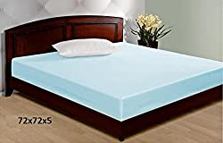Jars Collections Non- Wooven Laminated Mattress Protector - 72 X 72 Inches, Blue