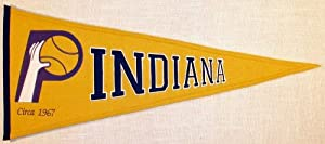 Indiana Pacers NBA Basketball Hardwood Classic Traditions Pennant by Winning+Streak+Sports