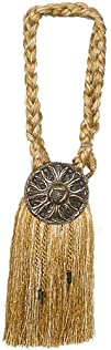 India House 76726 Tieback Medallion Tassel 9-Inch Gold Mix