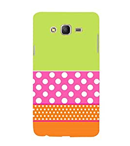 Green Pink Orange Pattern 3D Hard Polycarbonate Designer Back Case Cover for Samsung Galaxy On5 Pro :: Samsung Galaxy ON 5 Pro
