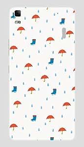 Back Cover for Lenovo A7000 rain elements
