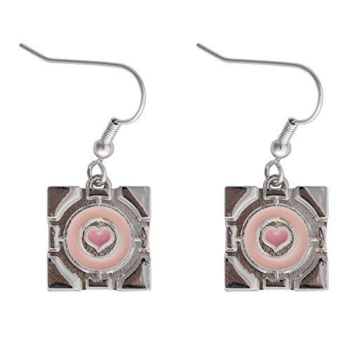 Portal 2 Companion Cube Earrings Ear rings