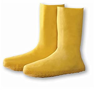Haz-Mat Yellow Latex Nuke Boot Cover, Over The Shoe, Size X-Large