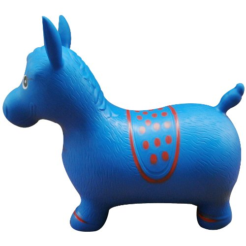 Blue-Horse-Hopper-Pump-Included-Inflatable-Space-Hopper-Jumping-Horse-Ride-on-Bouncy-Animal