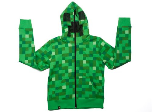 Minecraft Creeper Premium Zip-up Youth Hoodie