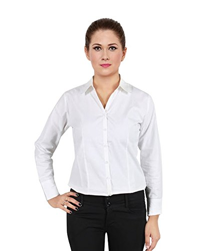 Womens-Plain-Formal-Full-Shirts-Of-Cotton