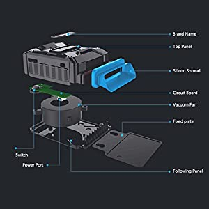 HAYATA [Best Laptop Cooler] LPC-03 Air Extracting Laptop Cooling with Vacuum Fan - USB Powered, Wind Control, Quiet Operation, Ultra-Portable Radiators,CPU Cooler, Fan Heat Sink for Notebook, Laptop (Color: A1, Tamaño: Small)