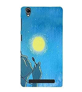 PrintVisa Stylish Cool Girl Joy happy 3D Hard Polycarbonate Designer Back Case Cover for Intex Aqua Power Plus