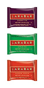 Larabar Minis Gluten Free Snack Bars, Cherry Pie, Apple Pie, Cashew Cookie, .78 Ounce Bars (12 Count)
