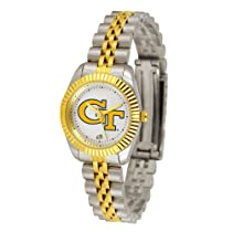 "Georgia Tech Yellowjackets NCAA ""Executive"" Ladies Watch (2-Tone Stainless Steel Band)"