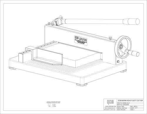 QCM 8200M Heavy Duty Desktop Stack Paper Cutter